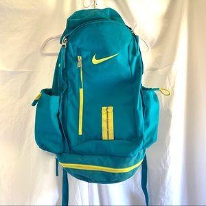 Nike KD basketball backpack teal blue yellow